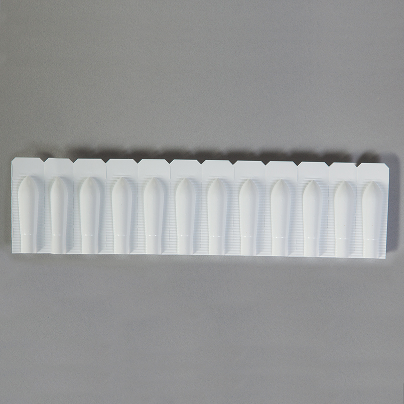 empty disposable plastic suppository molds 23ml adult size
